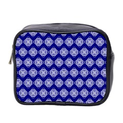 Abstract Knot Geometric Tile Pattern Mini Toiletries Bag 2-Side