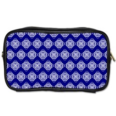 Abstract Knot Geometric Tile Pattern Toiletries Bags 2-Side
