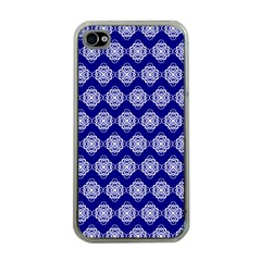 Abstract Knot Geometric Tile Pattern Apple iPhone 4 Case (Clear)