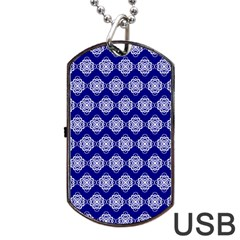 Abstract Knot Geometric Tile Pattern Dog Tag Usb Flash (two Sides)  by creativemom