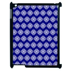 Abstract Knot Geometric Tile Pattern Apple iPad 2 Case (Black)