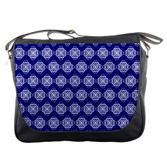 Abstract Knot Geometric Tile Pattern Messenger Bags