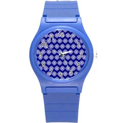 Abstract Knot Geometric Tile Pattern Round Plastic Sport Watch (S)
