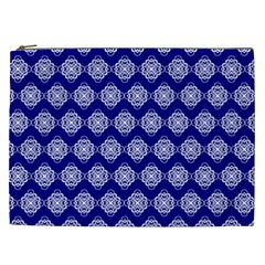 Abstract Knot Geometric Tile Pattern Cosmetic Bag (XXL)