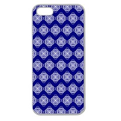 Abstract Knot Geometric Tile Pattern Apple Seamless iPhone 5 Case (Clear)