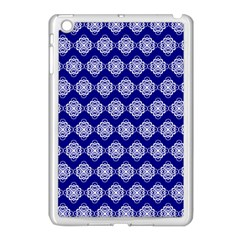 Abstract Knot Geometric Tile Pattern Apple iPad Mini Case (White)