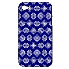 Abstract Knot Geometric Tile Pattern Apple iPhone 4/4S Hardshell Case (PC+Silicone)