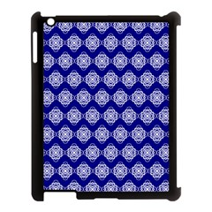 Abstract Knot Geometric Tile Pattern Apple iPad 3/4 Case (Black)
