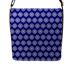 Abstract Knot Geometric Tile Pattern Flap Messenger Bag (L)