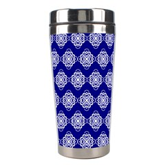 Abstract Knot Geometric Tile Pattern Stainless Steel Travel Tumblers