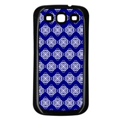 Abstract Knot Geometric Tile Pattern Samsung Galaxy S3 Back Case (Black)