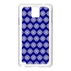 Abstract Knot Geometric Tile Pattern Samsung Galaxy Note 3 N9005 Case (White)