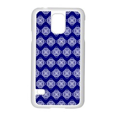 Abstract Knot Geometric Tile Pattern Samsung Galaxy S5 Case (White)
