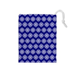 Abstract Knot Geometric Tile Pattern Drawstring Pouches (Medium)