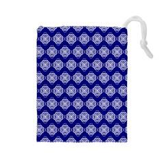Abstract Knot Geometric Tile Pattern Drawstring Pouches (Large)