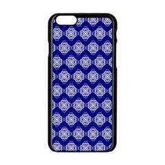 Abstract Knot Geometric Tile Pattern Apple iPhone 6 Black Enamel Case