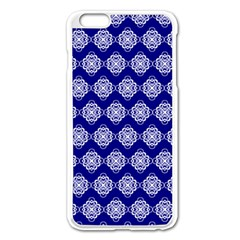 Abstract Knot Geometric Tile Pattern Apple iPhone 6 Plus Enamel White Case