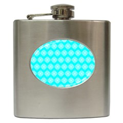 Abstract Knot Geometric Tile Pattern Hip Flask (6 Oz)