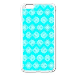 Abstract Knot Geometric Tile Pattern Apple Iphone 6 Plus Enamel White Case by creativemom