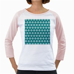 Abstract Knot Geometric Tile Pattern Girly Raglans by creativemom