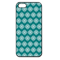 Abstract Knot Geometric Tile Pattern Apple Iphone 5 Seamless Case (black) by creativemom