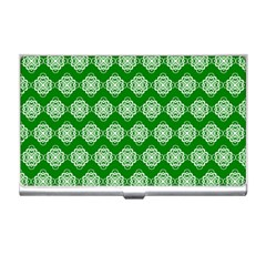 Abstract Knot Geometric Tile Pattern Business Card Holders