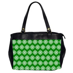 Abstract Knot Geometric Tile Pattern Office Handbags (2 Sides)  by creativemom