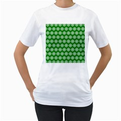 Abstract Knot Geometric Tile Pattern Women s T-shirt (white)  by creativemom