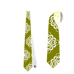 Abstract Knot Geometric Tile Pattern Neckties (one Side)  by creativemom