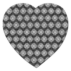 Abstract Knot Geometric Tile Pattern Jigsaw Puzzle (heart) by creativemom