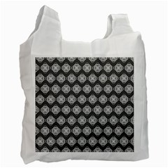 Abstract Knot Geometric Tile Pattern Recycle Bag (one Side) by creativemom