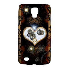 Steampunk, Awesome Heart With Clocks And Gears Galaxy S4 Active by FantasyWorld7
