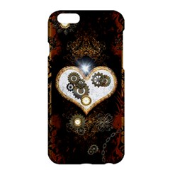 Steampunk, Awesome Heart With Clocks And Gears Apple Iphone 6/6s Plus Hardshell Case by FantasyWorld7