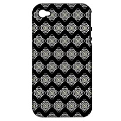 Abstract Knot Geometric Tile Pattern Apple Iphone 4/4s Hardshell Case (pc+silicone) by creativemom