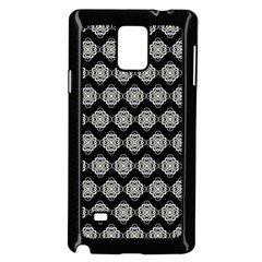 Abstract Knot Geometric Tile Pattern Samsung Galaxy Note 4 Case (black) by creativemom