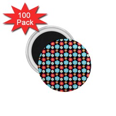 Colorful Floral Pattern 1 75  Magnets (100 Pack)  by creativemom