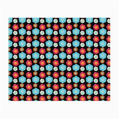 Colorful Floral Pattern Small Glasses Cloth (2 Side) by creativemom