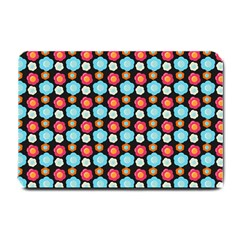 Colorful Floral Pattern Small Doormat  by creativemom