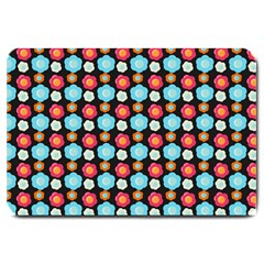 Colorful Floral Pattern Large Doormat  by creativemom