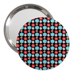 Colorful Floral Pattern 3  Handbag Mirrors by creativemom