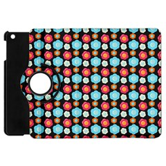 Colorful Floral Pattern Apple Ipad Mini Flip 360 Case by creativemom