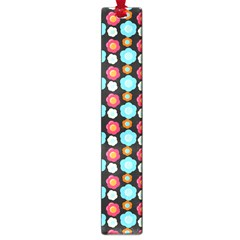 Colorful Floral Pattern Large Book Marks by creativemom