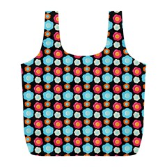 Colorful Floral Pattern Full Print Recycle Bags (l)  by creativemom