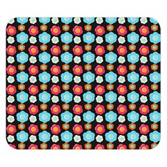 Colorful Floral Pattern Double Sided Flano Blanket (small)  by creativemom