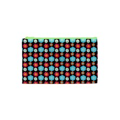 Colorful Floral Pattern Cosmetic Bag (xs) by creativemom