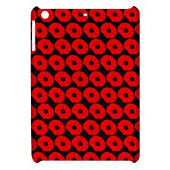 Charcoal And Red Peony Flower Pattern Apple Ipad Mini Hardshell Case by creativemom