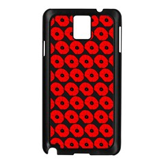 Charcoal And Red Peony Flower Pattern Samsung Galaxy Note 3 N9005 Case (black) by creativemom