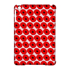 Red Peony Flower Pattern Apple Ipad Mini Hardshell Case (compatible With Smart Cover)