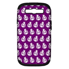 Ladybug Vector Geometric Tile Pattern Samsung Galaxy S Iii Hardshell Case (pc+silicone) by creativemom