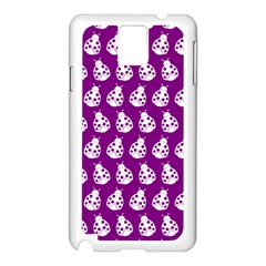 Ladybug Vector Geometric Tile Pattern Samsung Galaxy Note 3 N9005 Case (white) by creativemom